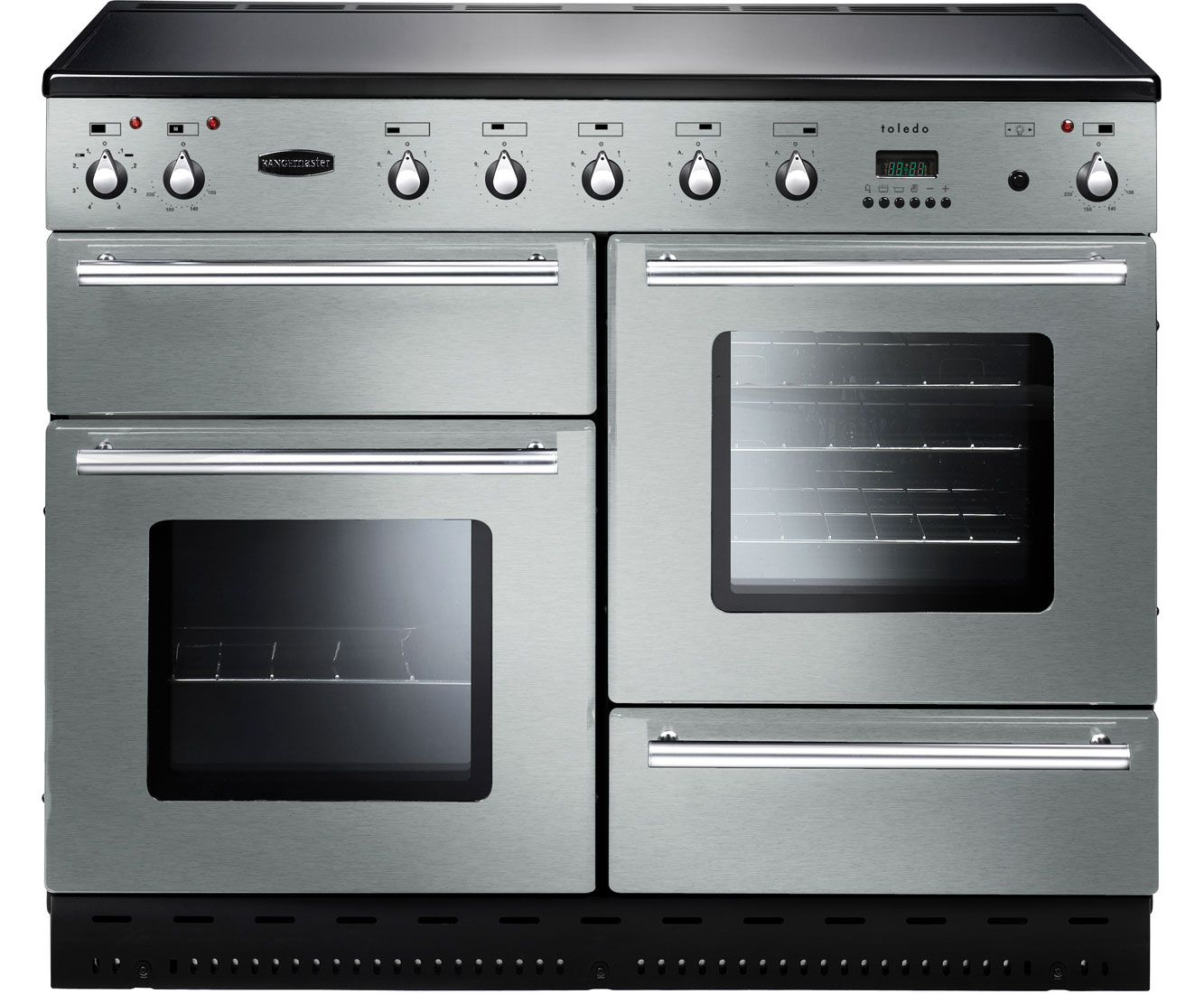 Rangemaster Toledo 110 Induction Tols110eiss Freestanding Electric Range Cooker Stainless Steel Electric Range Cookers Dual Fuel Range Cookers Range Cooker