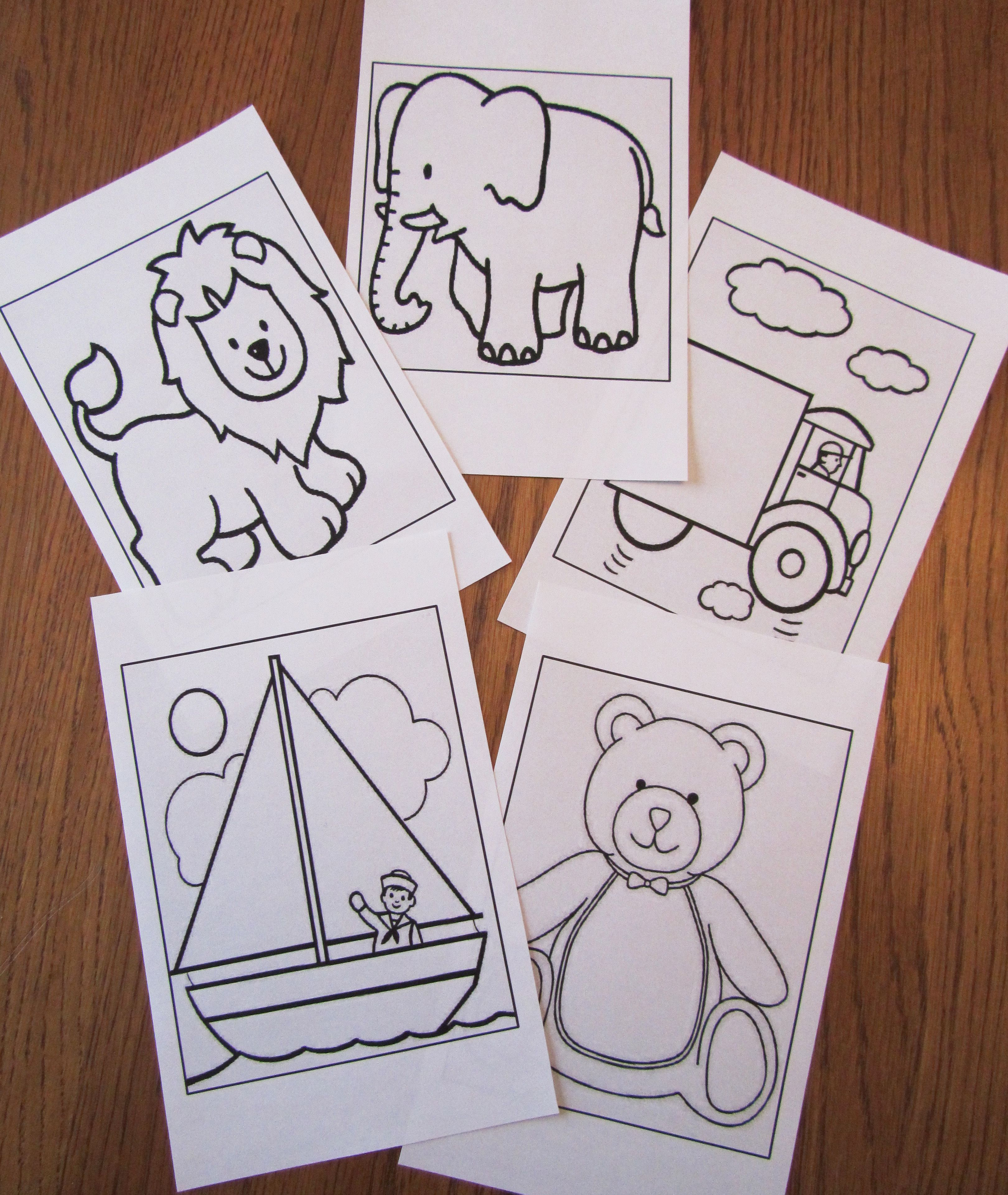 Easy Coloring Pages For Little Boys Printed On Half Sheets Find