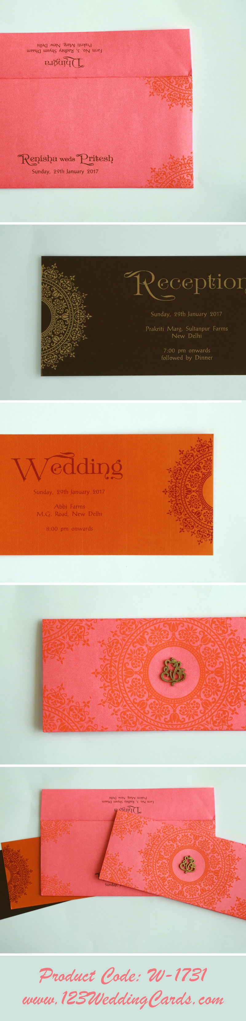 Hindu Wedding Invitations - W-1731 - 123WeddingCards A perfect Hindu ...
