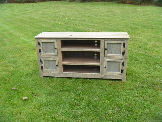 Rustic Pallet TV Stand Cabinet , Sideboard, Reclaimed Wood, Shabby Chic, Media  Stand