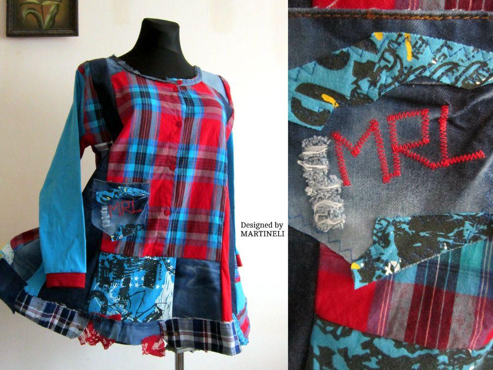 Details about Denim Shirt Dress Plus Size ClothingUpcycled ClothingBoho Tunic DressTunics is part of Upcycle Clothes Boho -