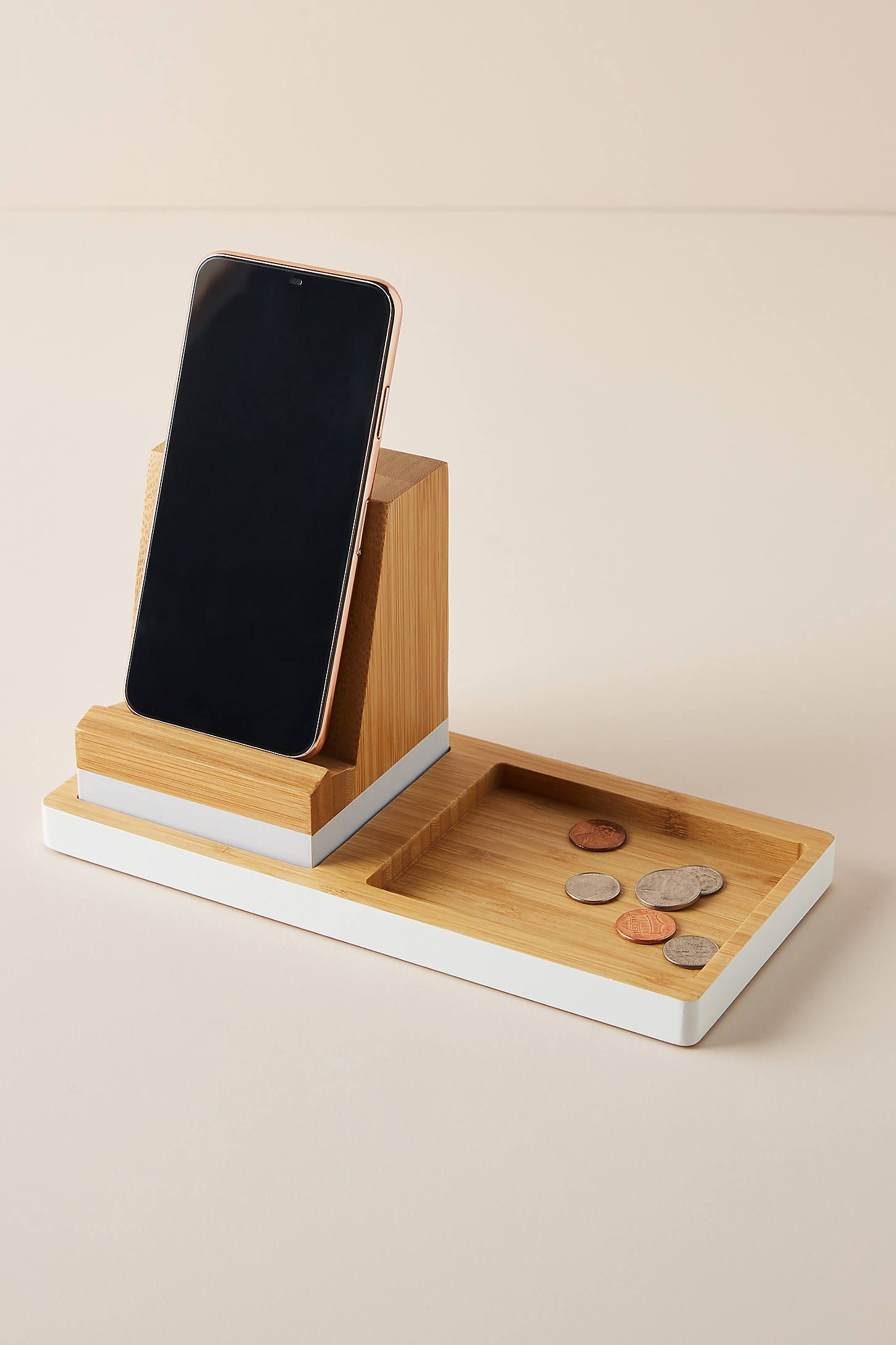 Bamboo Charging Station by Anthropologie in Assorted, Stationery