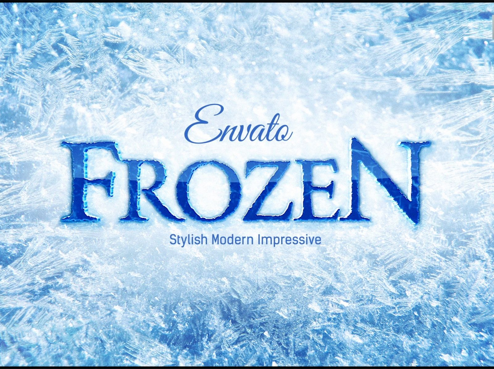 Frozen Ice Logo After Effects Template Ice logo, After