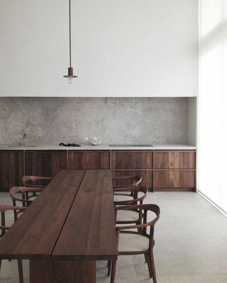 Interieurs Modernes En Beton Et Bois Une Alliance Harmonieuse Interior Architecture House Interior Minimalist Kitchen