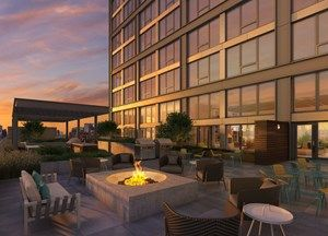 Lendlease Related Midwest Celebrate Topping Out Of Landmark West Loop Chicago Apartment Penthouse Living Outdoor Fire Pit