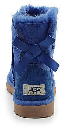 $150, Blue Uggs: UGG Australia Mini Bailey Bow Booties. Sold by Dillard's.