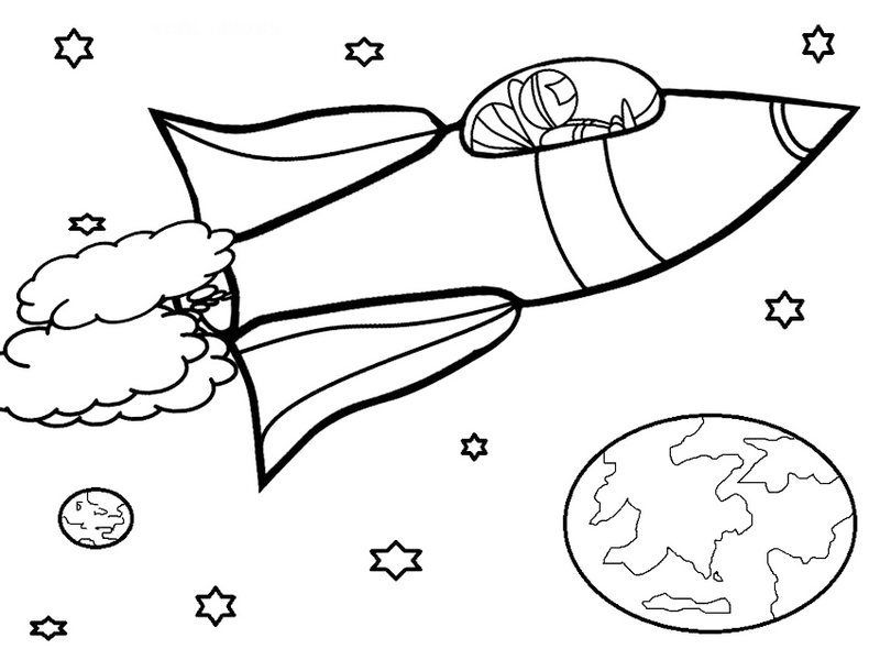 Rocket Coloring Pages Spacecraft Gallery For Kids | Rocket, Airspace ...