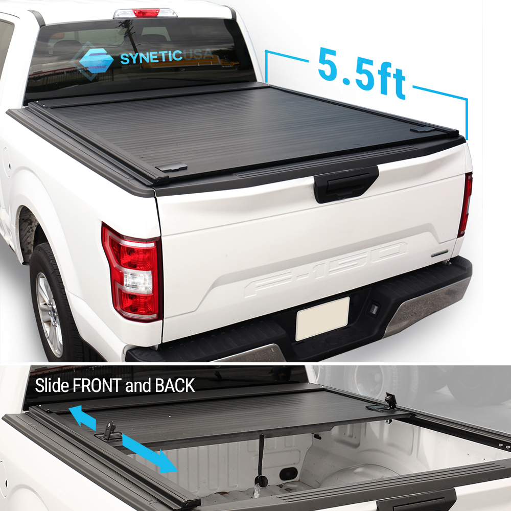 For 2009 2021 Ford F150 5 5ft Short Truck Bed Syneticusa Waterproof Retractable Tonneau Cover Hard Aluminum Low Profile Design Walmart Com Best Truck Bed Covers Truck Bed Covers Hard Tonneau Cover