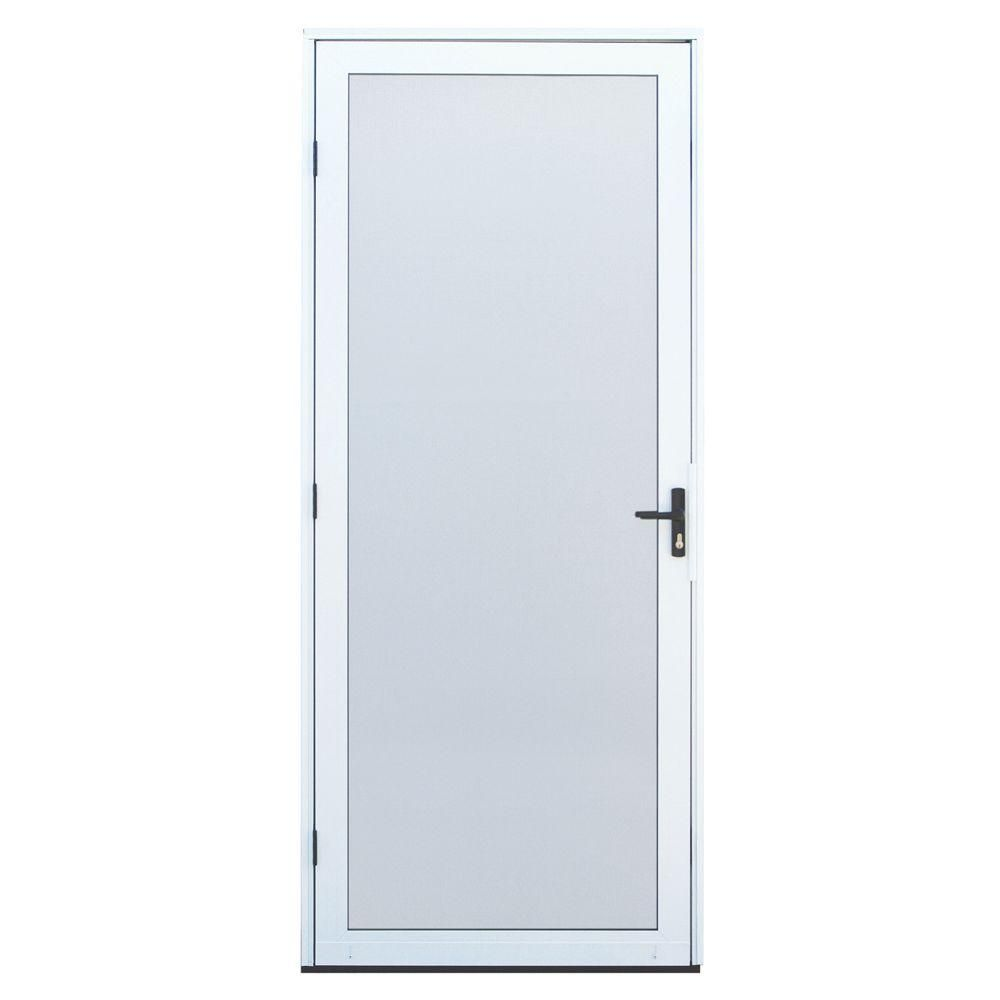 Unique Home Designs 36 in. x 80 in. White Surface Mount Outswing ...