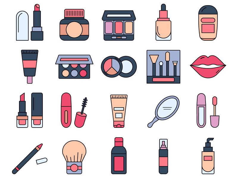 Makeup Vector Freebie Icon Set