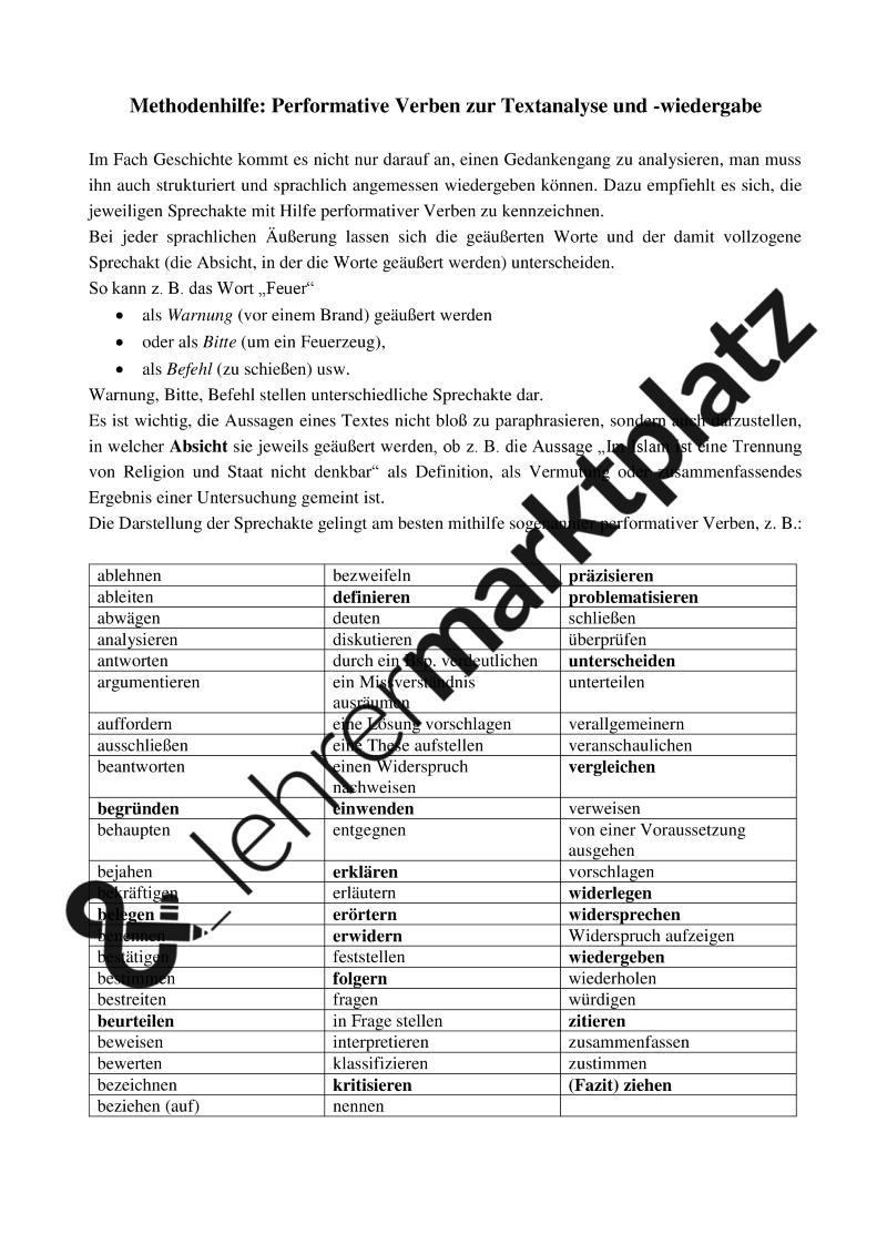 Religion und Staat im Islam zur Zeit der Abbasiden: Übungsblatt zur ...