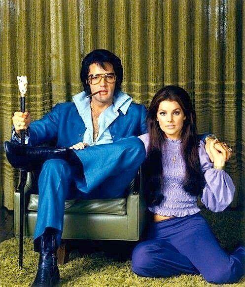 Elvis & Priscilla and the green carpet room