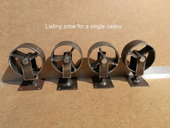 industrial furniture swivel metal castors casters iron. Black Bedroom Furniture Sets. Home Design Ideas