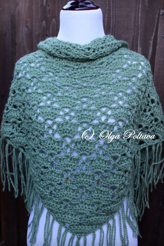 Crochet Scarf Pattern, Triangular Scarf, Lace Shawl, Crochet Pattern ...