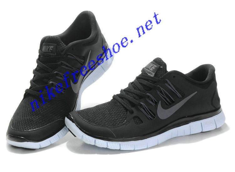 Nike Free Run 4 Mens Black Dark Grey White Metallic Silver 579959 002