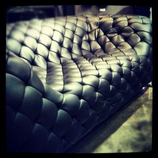 Quilted Leather Sofa From Zuo Modern. #zincdoor #hpmkt #leather #furniture