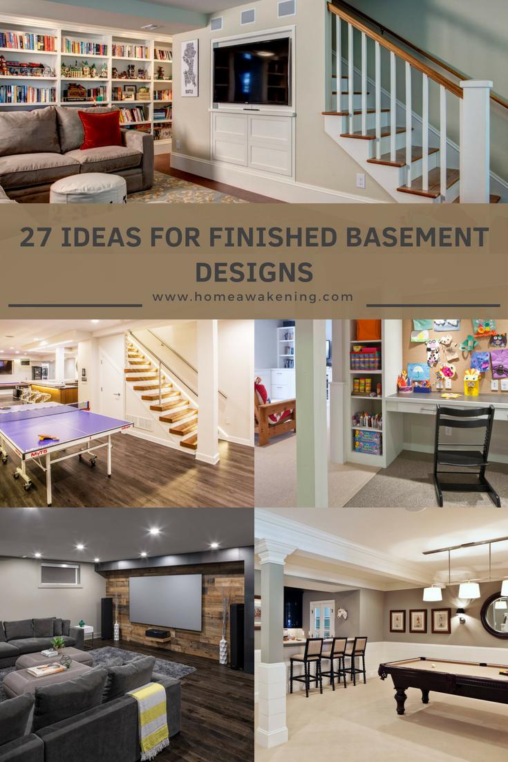 27 Delightfully Ravishing Basement Designs Home Awakening Basement Design Finished Basement Designs House Design