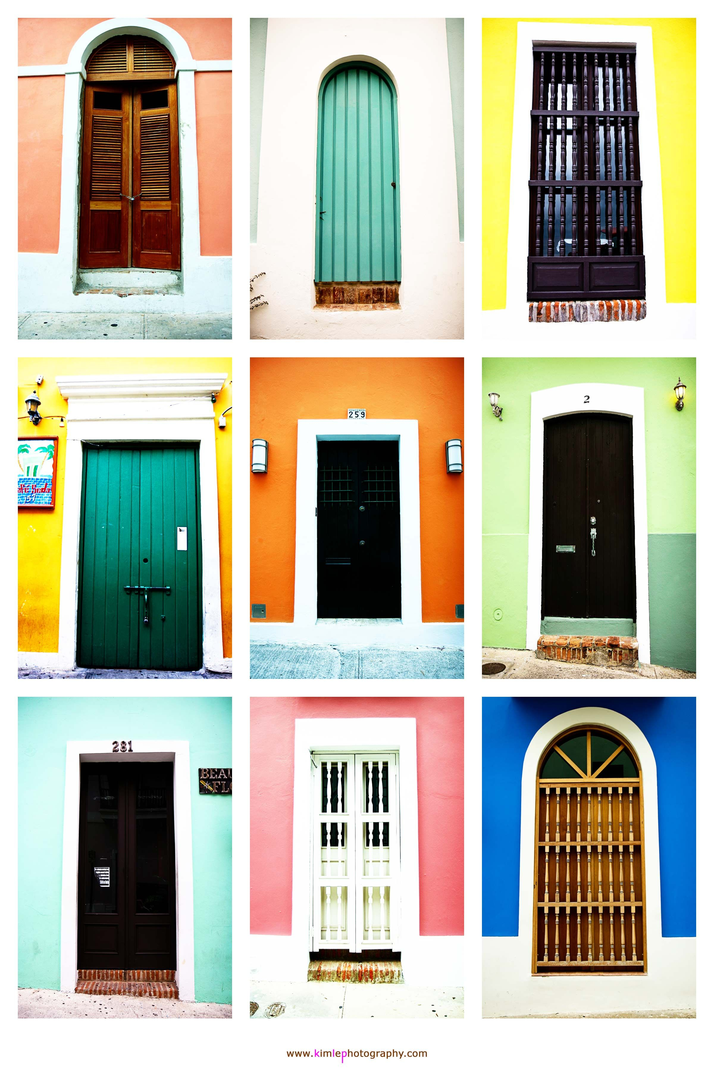 Pastel color homes in