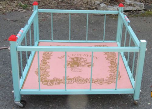 Rare 1950s Amsco Doll E Playpen Vintage Doll Furniture