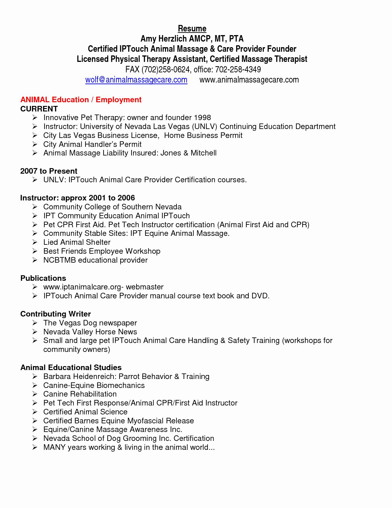25 Physical therapy Student Resume in 2020 Physical