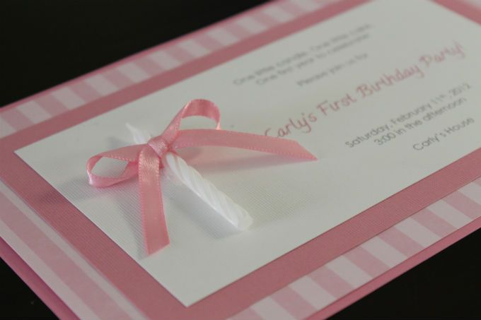 Homemade Invitations 1st Birthday