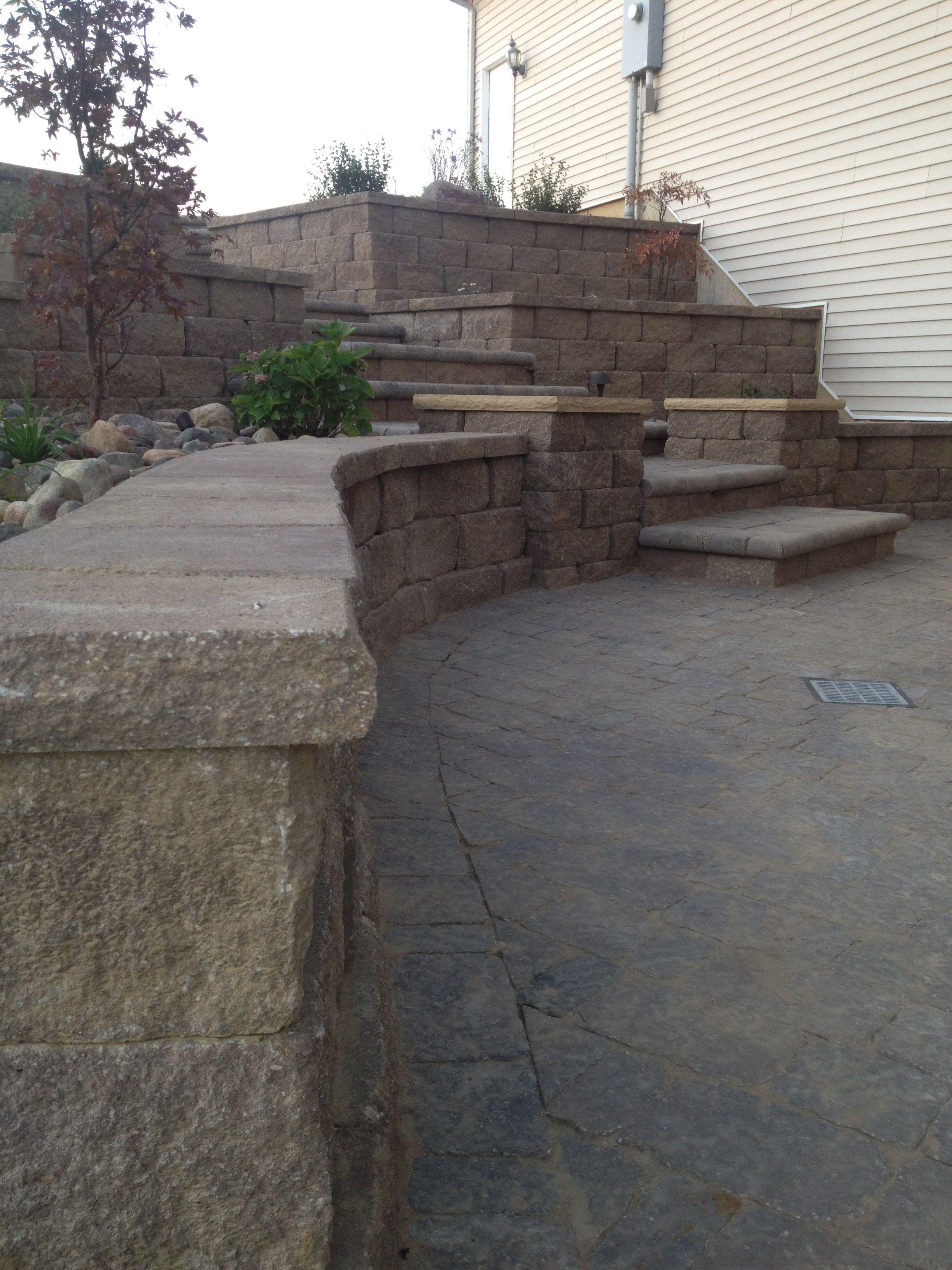 Anchor walls and paver patio