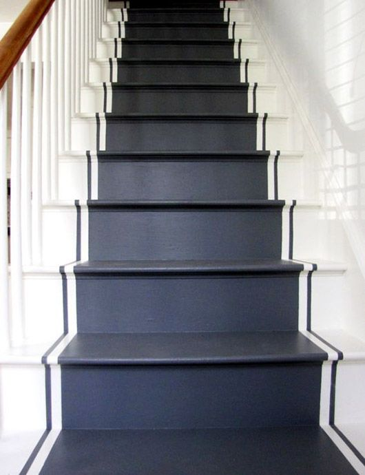 Black Steps It Up Living Spaces Pinterest Painted Stairs