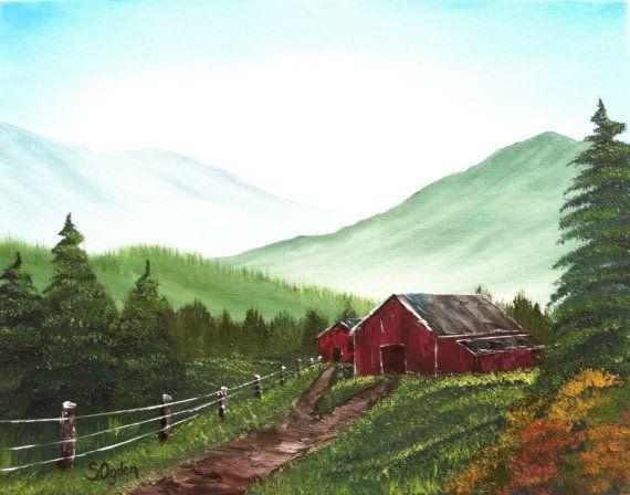 Items similar to FRAMED Painting Original Oil Landscape ...