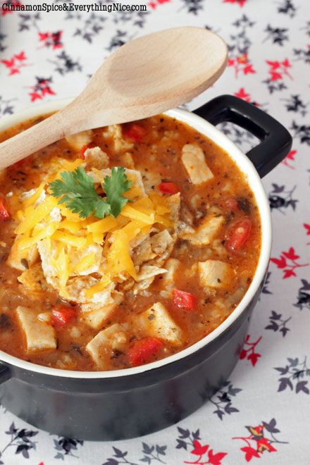 Tex-Mex Chicken and Rice Soup Recipe Tex mex chicken, Rice soup