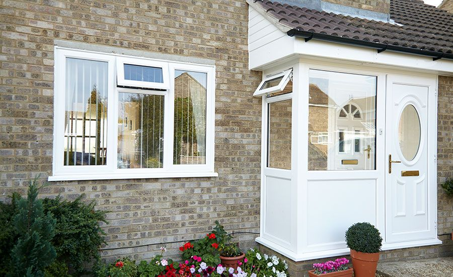 Porches Gallery Our Recent Installations Anglian Home Beach Bungalow Exterior Bungalow Exterior House Exterior