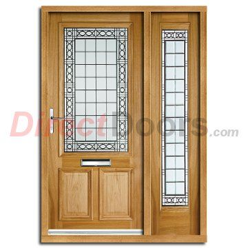 Image Of Creedmore Exterior Oak Door And Frame Set With One Side Screen And Matching Double Glazing External Oak Doors External Wooden Doors Exterior Oak Doors