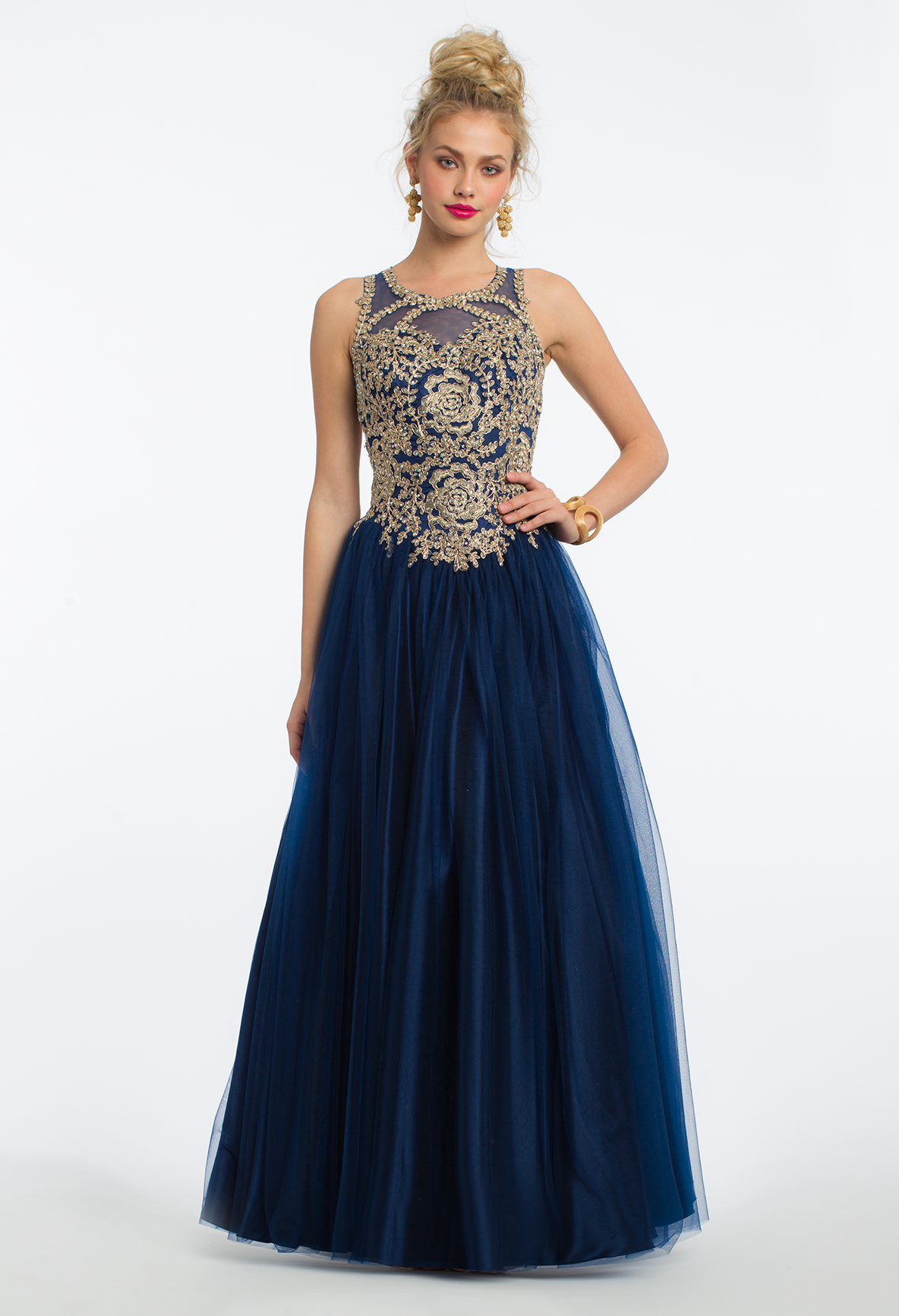 3cb260934f51 Metallic Applique Tulle Ballgown Lace Up Dress | Trend Alert: Ballgowns