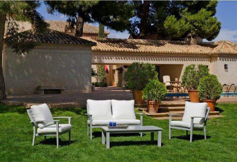 Salon de jardin Albuquerque Atylia en aluminium aspect bois prix ...