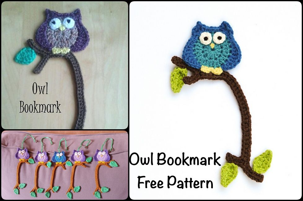 Crochet Owl Bookmark with Pattern | Owls | Pinterest | Señaladores ...