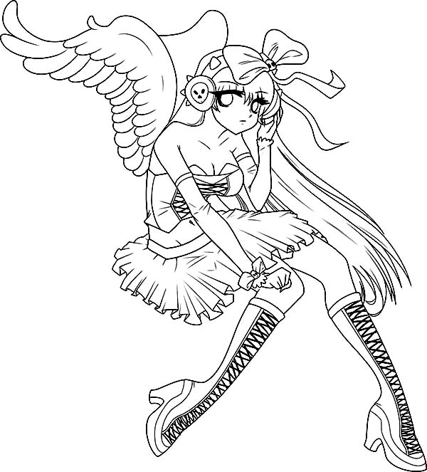 Pin By Coloringsky On Anime Coloring Pages Angel Coloring Pages Coloring Pages Whale Coloring Pages
