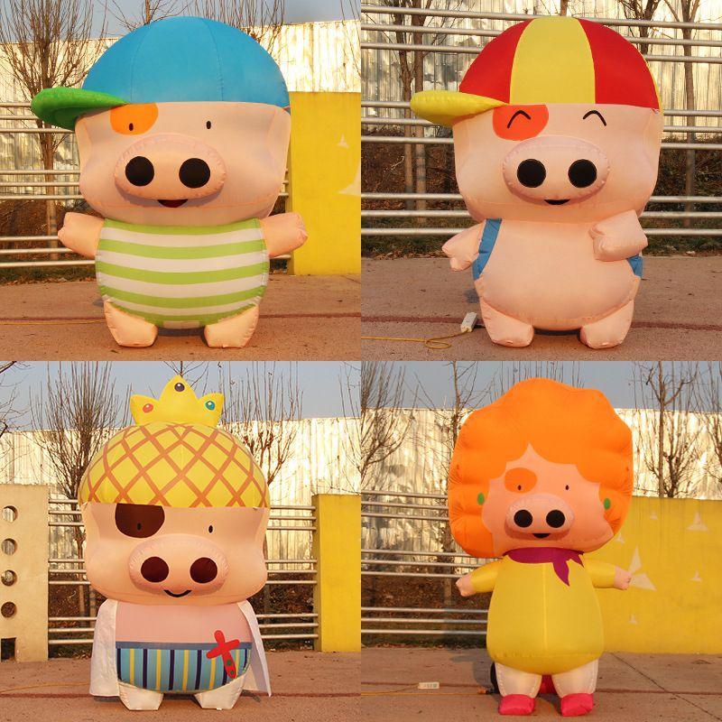 #inflatable #cartoon #model #cute #pig #animal #film #television #kindergarten #school #sales #department #holiday #decorative #mascot #costumes #accessories