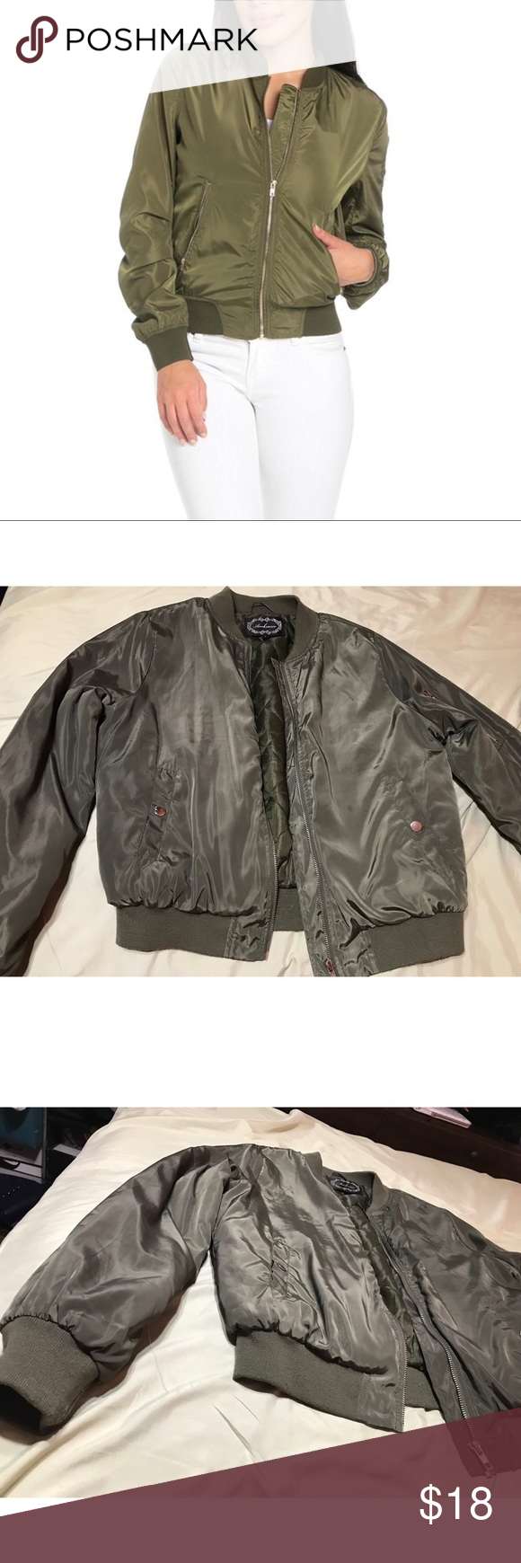 Army Green Bomber Jacket Army Green Bomber Jacket Thick And Cushiony Material Inside Two Pockets And Army Green Bomber Jacket Green Bomber Jacket Bomber Jacket [ 1740 x 580 Pixel ]