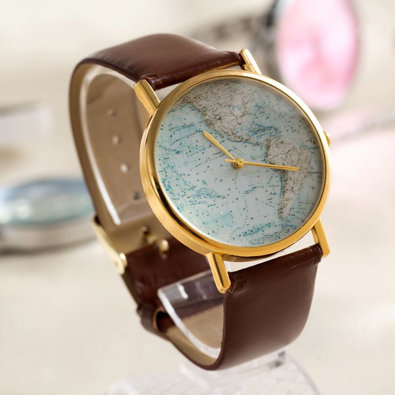 World Map Womens Watche