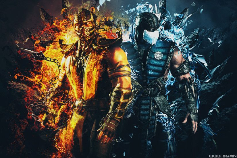 Image result for scorpion mortal kombat wallpaper Mortal