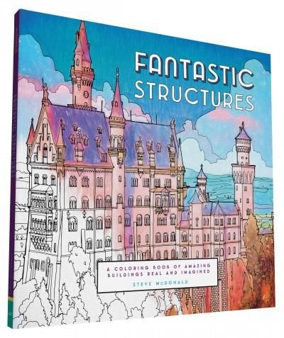 Fantastic Cities Structures Collections Coloring Book Illustrated By Steve McDonald Very Detailed And Suitable For Advanced Colorists