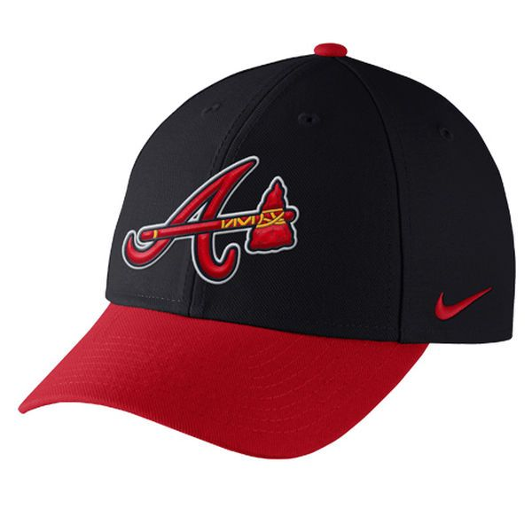 c1be8381 Men's Atlanta Braves Nike Navy Wool Classic Adjustable Dri-FIT Hat -