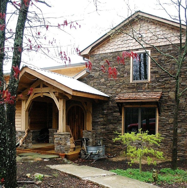 Timber Frame Home - Timber Frame Exterior - Timber Frame Porch - Homestead Timber Frames - Crossville Tennessee