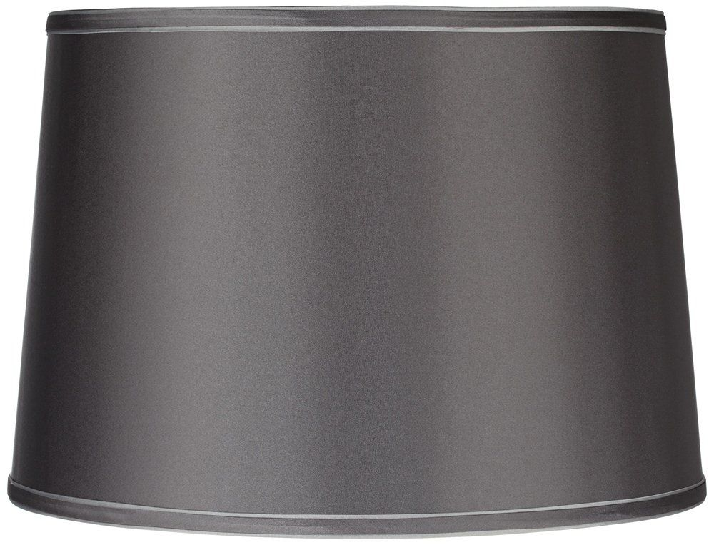 Charcoal Gray Drum Lamp Shade 14x16x11