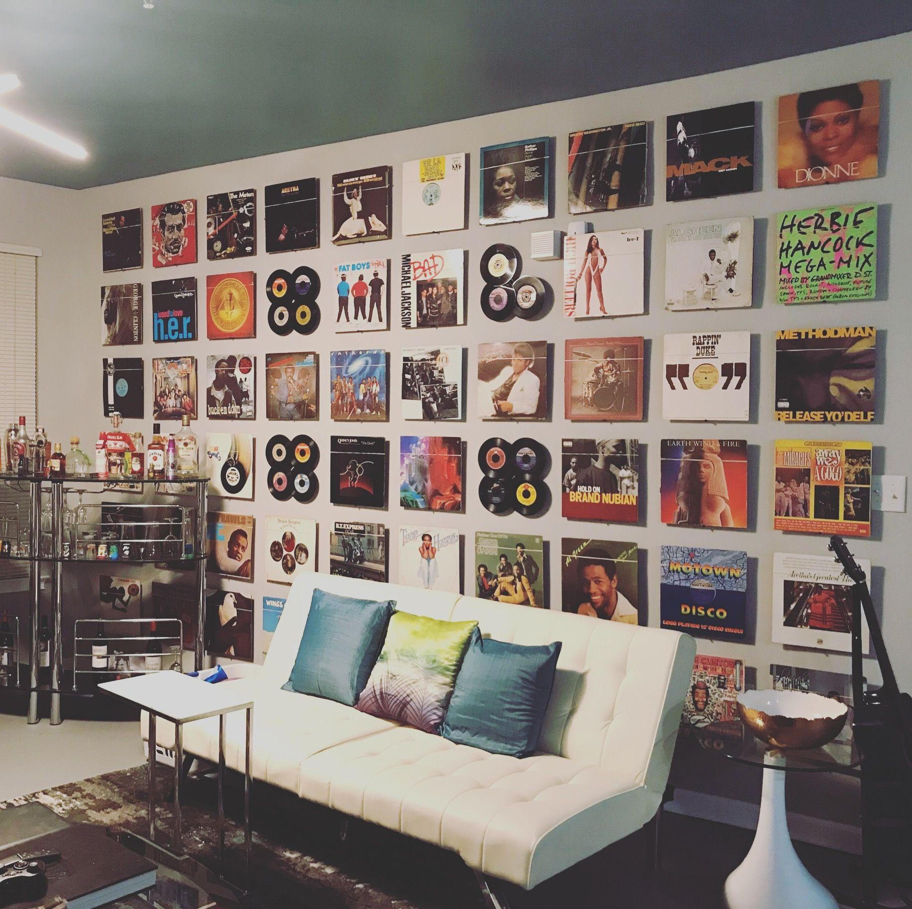 Vinyl Record Room, Record Wall