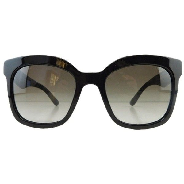 Pre-owned New Prada Spr 24q 1ab-0a7 Black Gradient Full-frame Acetate... ($150) ❤ liked on Polyvore featuring accessories, eyewear, sunglasses, black gray gradient, acetate sunglasses, prada, acetate glasses, gradient sunglasses and prada glasses