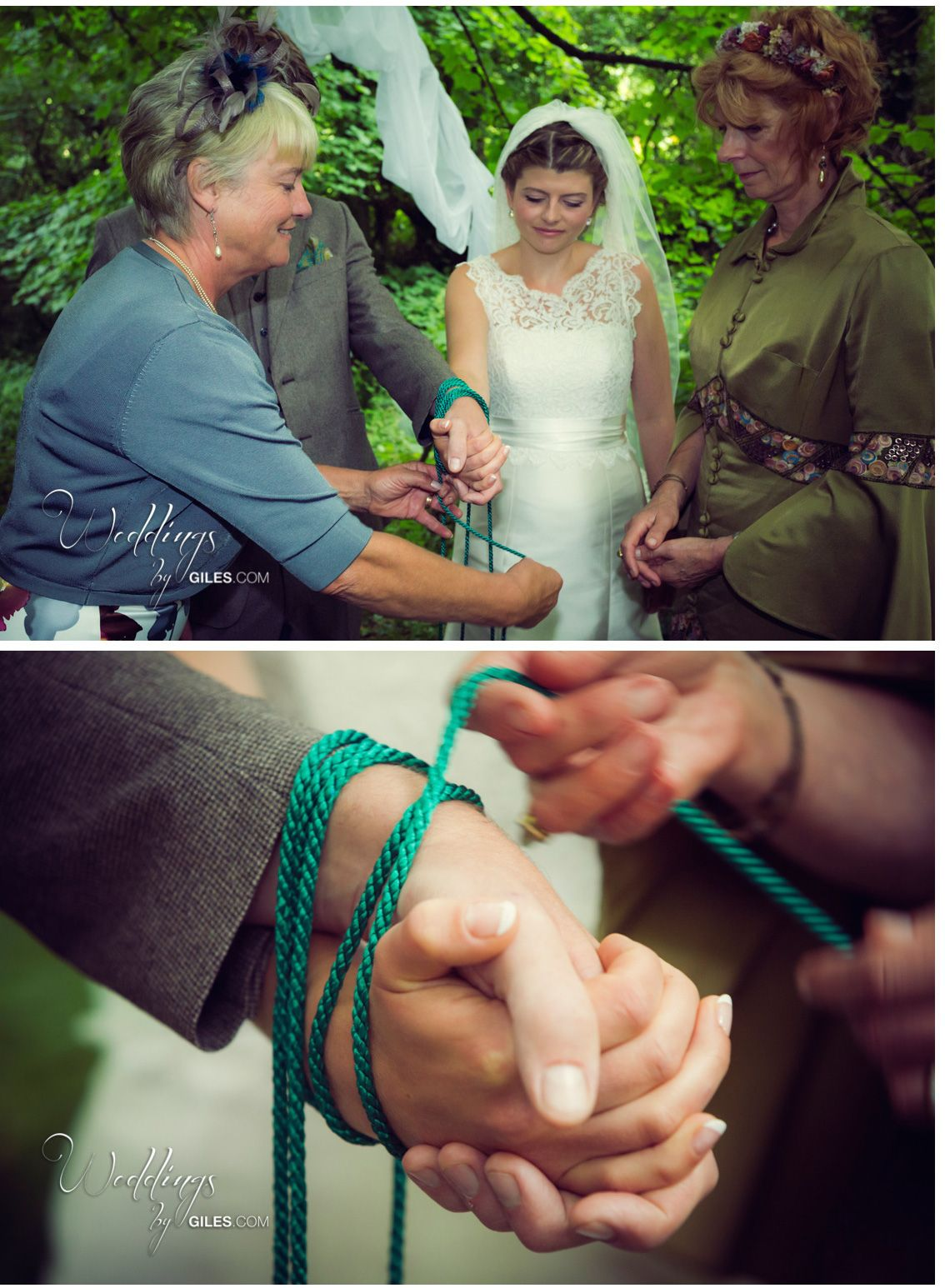 A stunning woodland hand fasting where the mums helped to fasten the hand fasting rituals and hand fasting ceremonies are really unique and offer a very symbolic way of showing your commitment during your wedding ceremony biocorpaavc Images