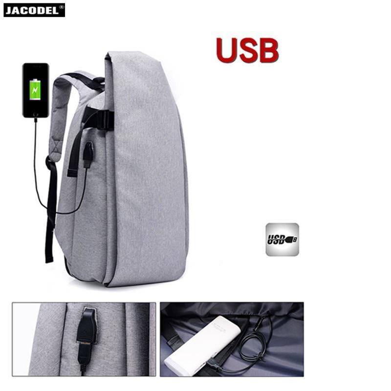 Jacodel Men Laptop Bag 15 6 inch Notebook Backpack USB
