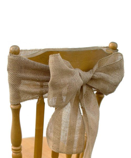 Add rustic style to any gathering with this charming set. Featuring sturdy burlap construction, it weathers the elements with ease. Includes four sashes7'' W x 108'' longBurlapImported