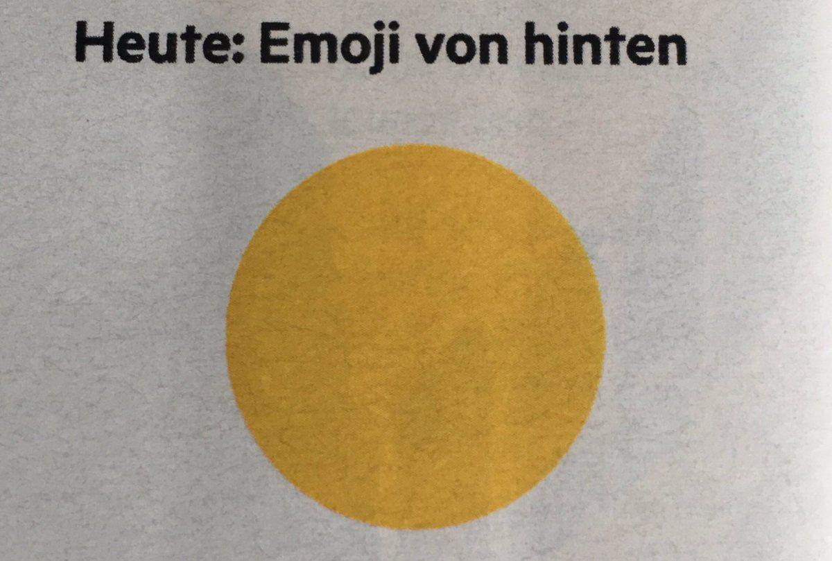 Ein Emoji von hinten   just for fun   Emoji, Funny und Humor