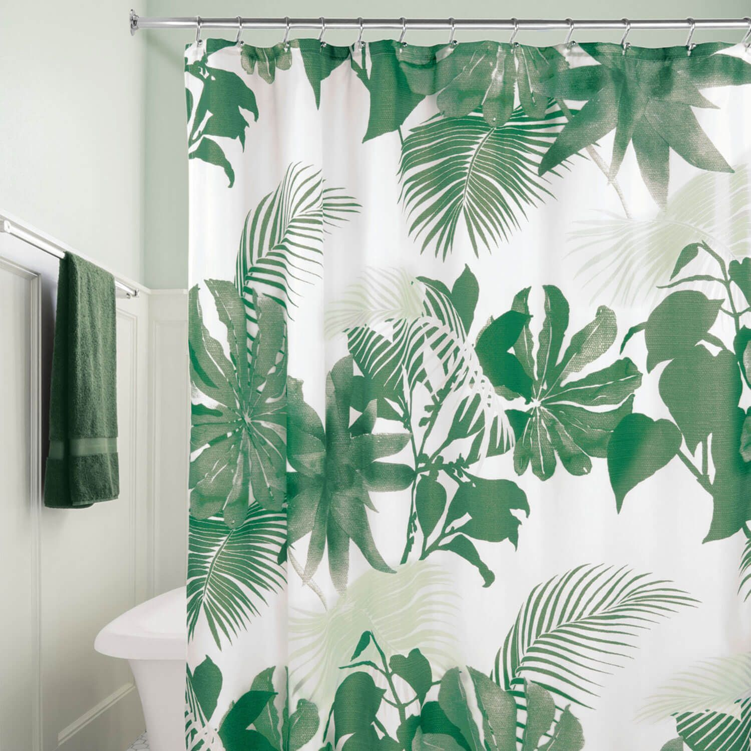 Fern Shower Curtain Fabric Shower Curtains Curtains Watercolor Shower Curtain